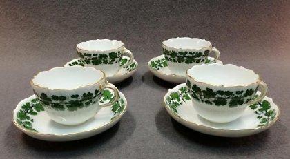 meissen-um-1880-weinlaub-mit-gold-4x-kaffeetassen-1-wahl-1880