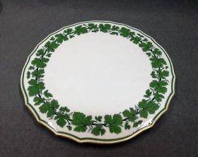 meissen-um-1880-weinlaub-mit-gold-grosse-kuchenpatte-1-wahl-d-31-5cm